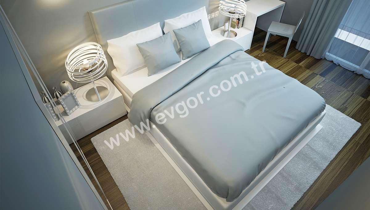 Aloe Beyaz Otel Yatak Odası