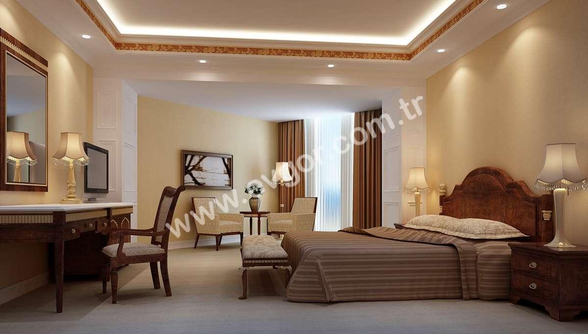 Amisos Otel Yatak Odası
