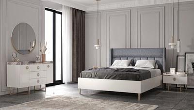 Asane Modern Beyaz Yatak Odası