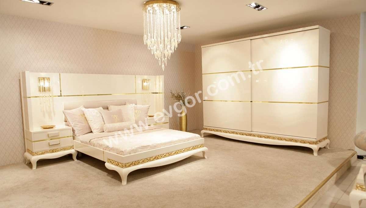 Beyaz Avangarde Yatak Odası Takımı