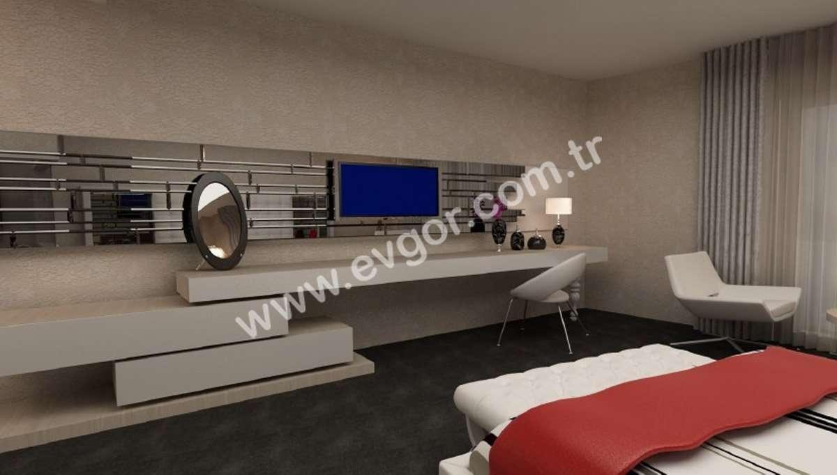 Beyaz Kapitoneli Yatak Odaları