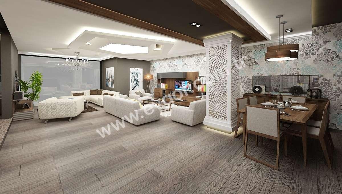 Beyaz Modern Otel Resepsiyonu