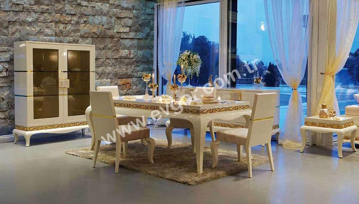Beyaz Modern Yemek Odası Takımları