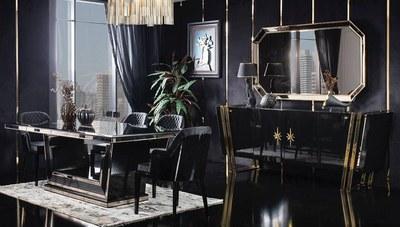 Black Gold Luxury Yemek Odası