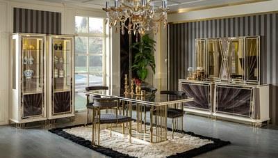 Bugatti Metal Yemek Odası