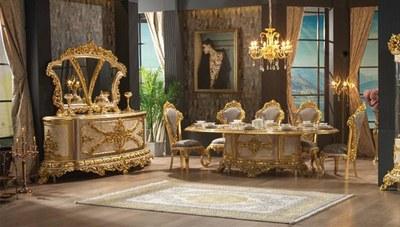 Hünkar Altın Varaklı Yemek Odası