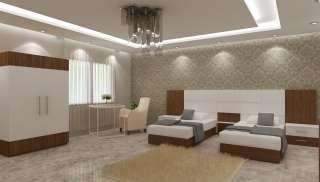 Kahverengi Beyaz Otel Odaları