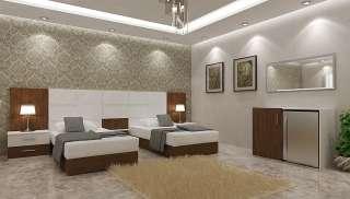 Kahverengi Beyaz Otel Odaları - Thumbnail