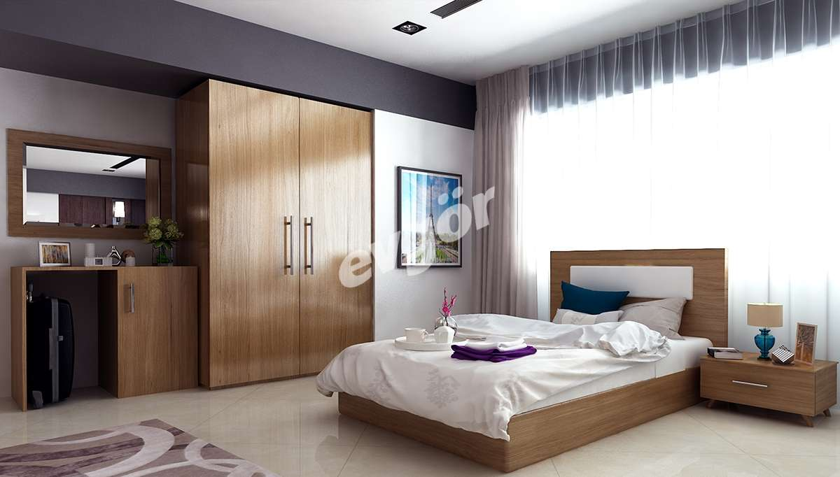 Kahverengi Otel Odaları