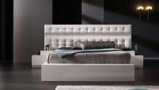 Kapitoneli Beyaz Modern Başlıklı Yatak Odası Takımı