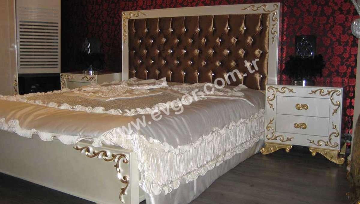 Kapitoneli Modern Başlık Yatak Odası Takımı