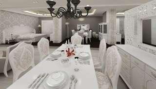 Larunte Beyaz Yemek Masası Modeli - Thumbnail