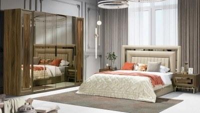 Loreda Ceviz Yatak Odası