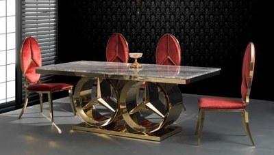 Maestro Gold Metal Yemek Masası