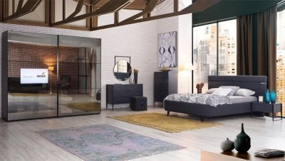 Milenyum Televizyonlu Köşe Yatak Odası