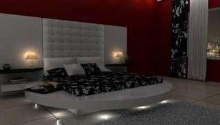 Modern Beyaz Yuvarlak Yatak Odası
