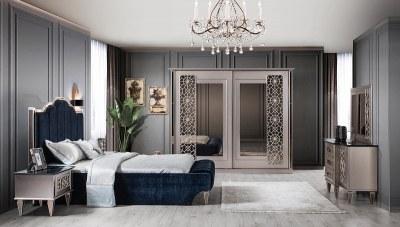 Nemora Mermer Desenli Yatak Odası