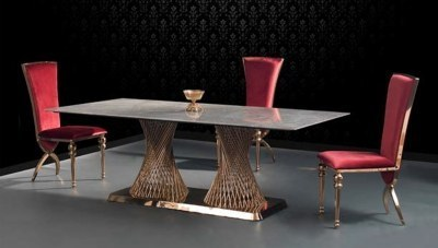 Pavrena Metal Yemek Masası
