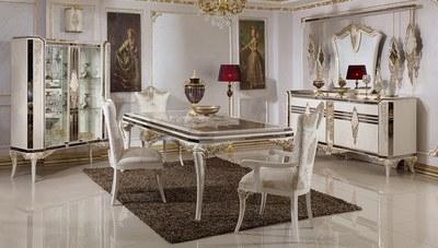 Rabesa Lüks Beyaz Yemek Odası