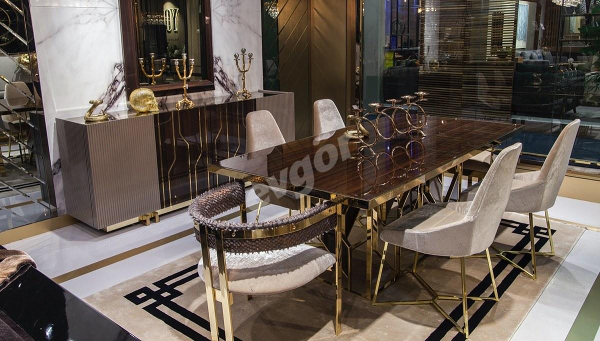 Romeo Luxury Metal Yemek Odası