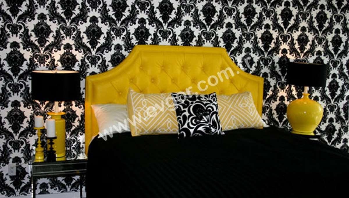 Sarı Başlıklı Yatak Odası Takımı