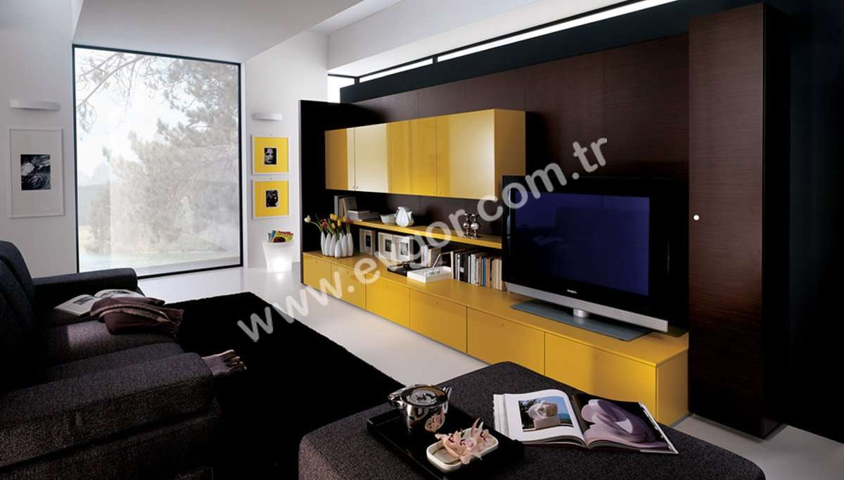 Sarı Modern Duvar Ünitesi Fiyatları