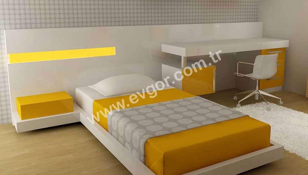 Sarı Modern Genç Odası Takımı