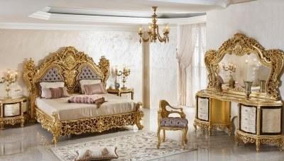 903 - Şehrazat Lake Oymalı Klasik Yatak Odası