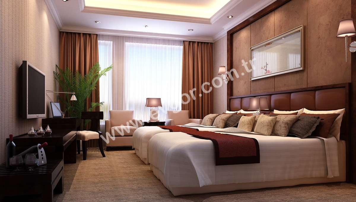 Serra Otel Yatak Odası