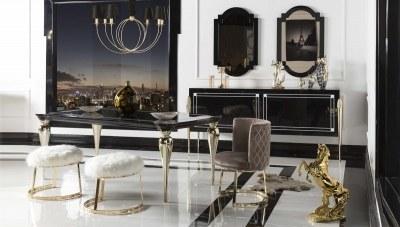 Siyah İnci Yemek Odası