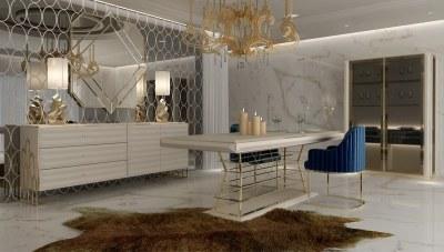Vasila Metal Yemek Odası