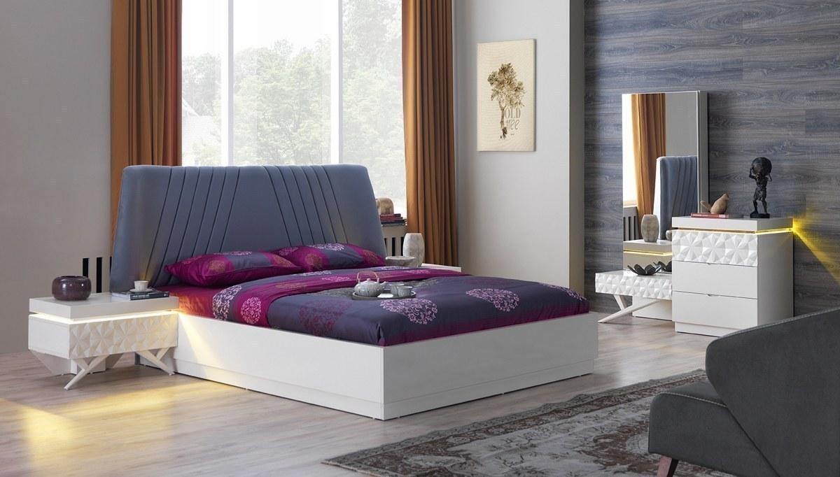 Vates Beyaz Yatak Odası