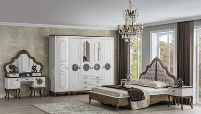 Venetto Beyaz Yatak Odası