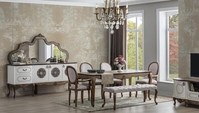 Venetto Beyaz Yemek Odası